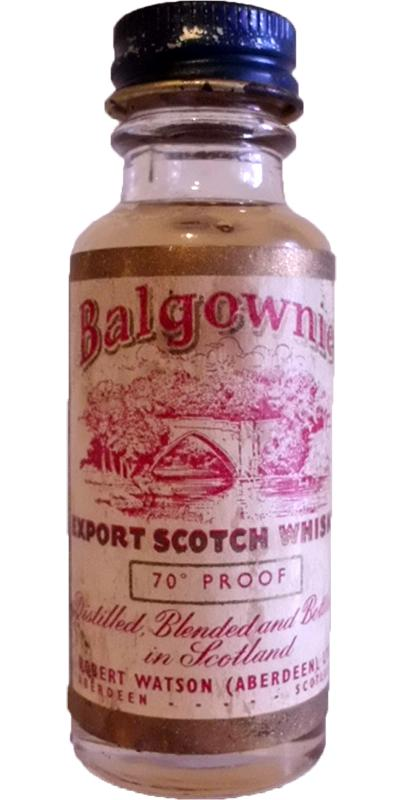 Balgownie Export Scotch Whisky