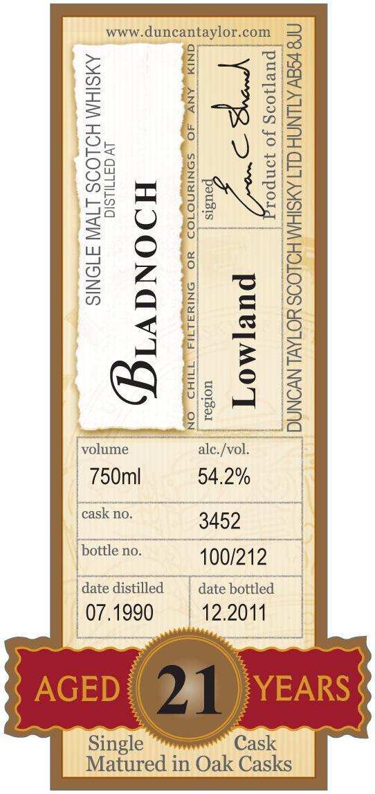 Bladnoch 1990 DT