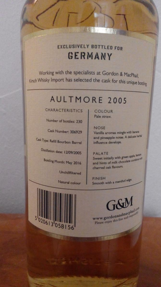 Aultmore 2005 GM