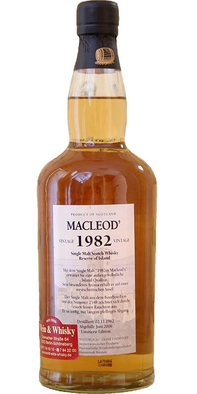 Macleod's 1982 IM Vintage