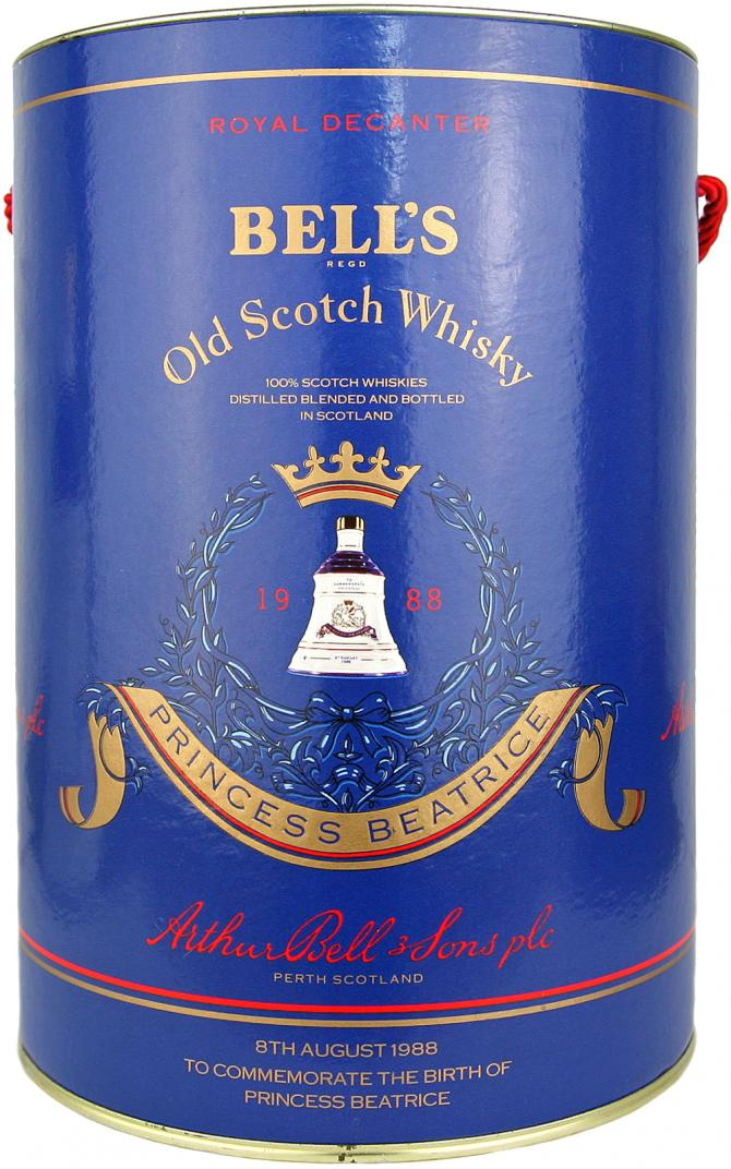 Bell's To Commemorate the Birth of Princess Beatrice 8th August 1988