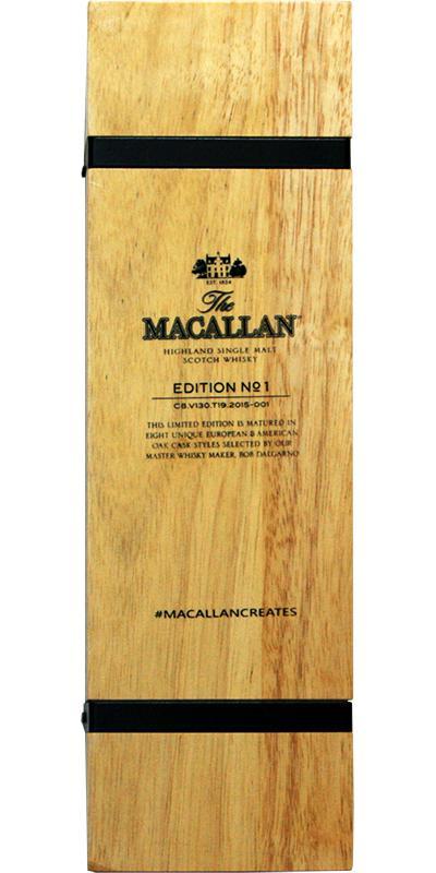Macallan Edition No. 1 Wooden Box