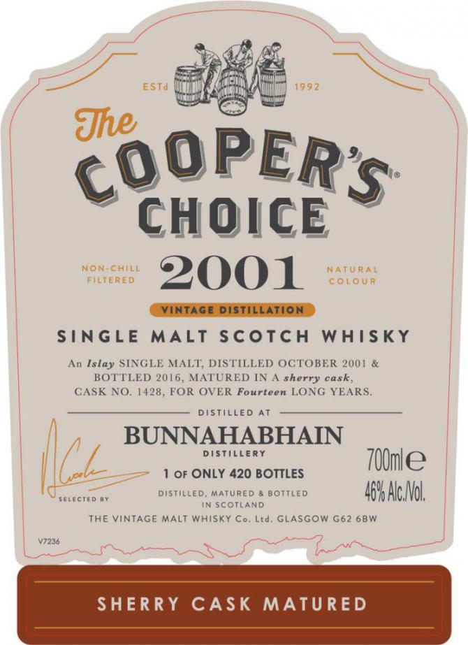 Bunnahabhain 2001 CC