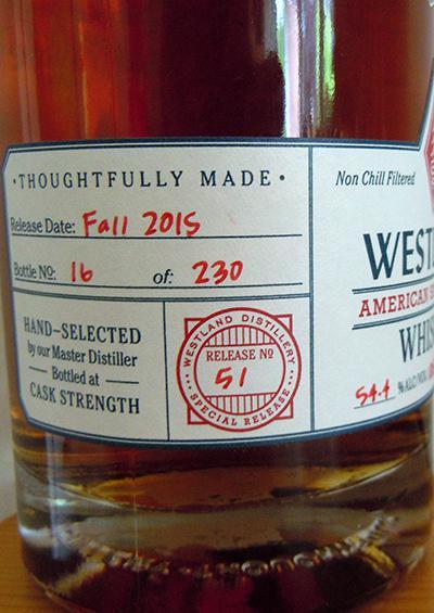 Westland Cask No. 572