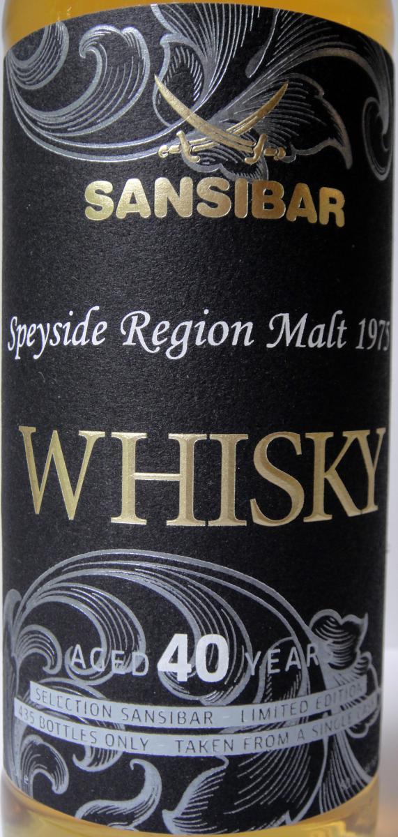 Speyside Region Malt 1975 Sb