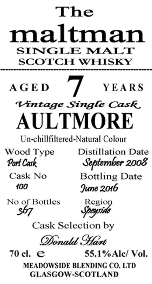 Aultmore 2008 MBl
