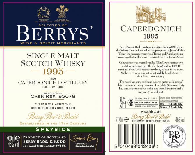 Caperdonich 1995 BR