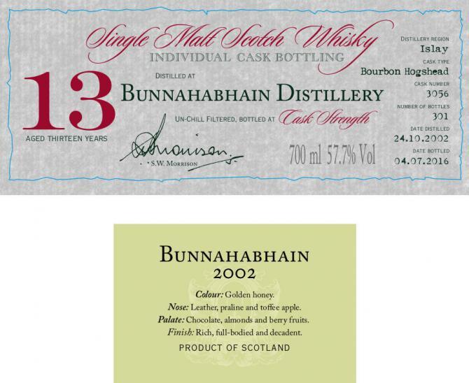 Bunnahabhain 2002 DR