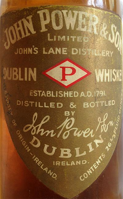 John Power & Son Pot Still Whiskey