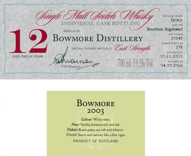 Bowmore 2003 DR