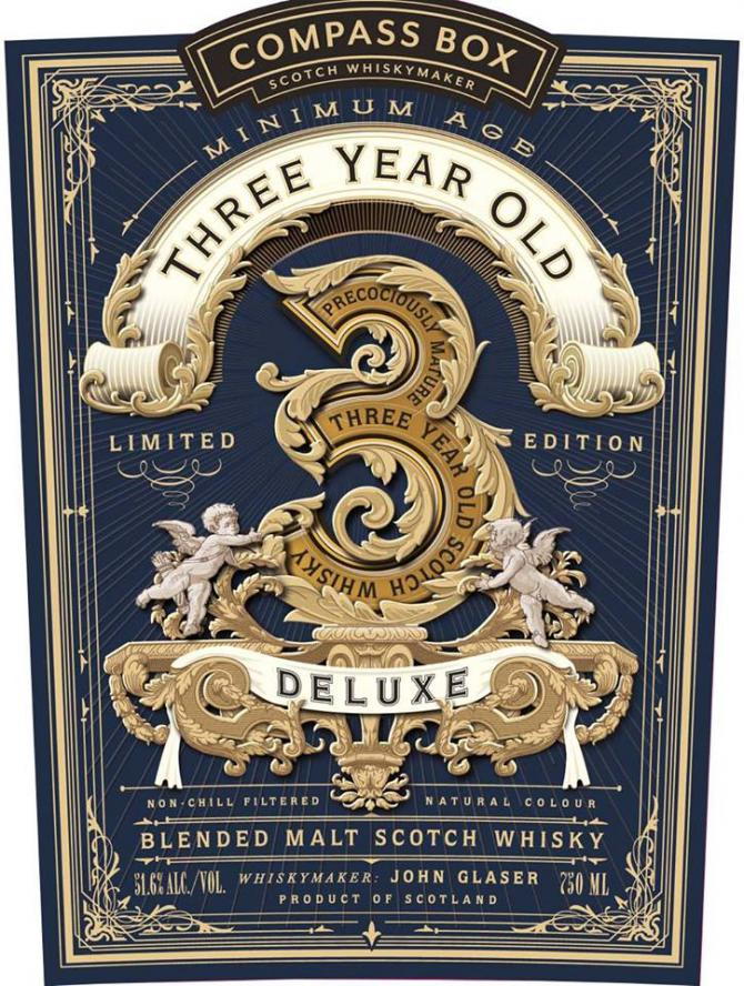 Three Year Old Deluxe Blended Malt Scotch Whisky CB