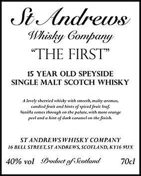 Speyside Single Malt Scotch Whisky 15-year-old SAWC