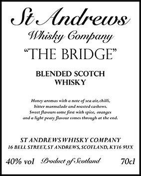 Blended Scotch Whisky The Bridge SAWC
