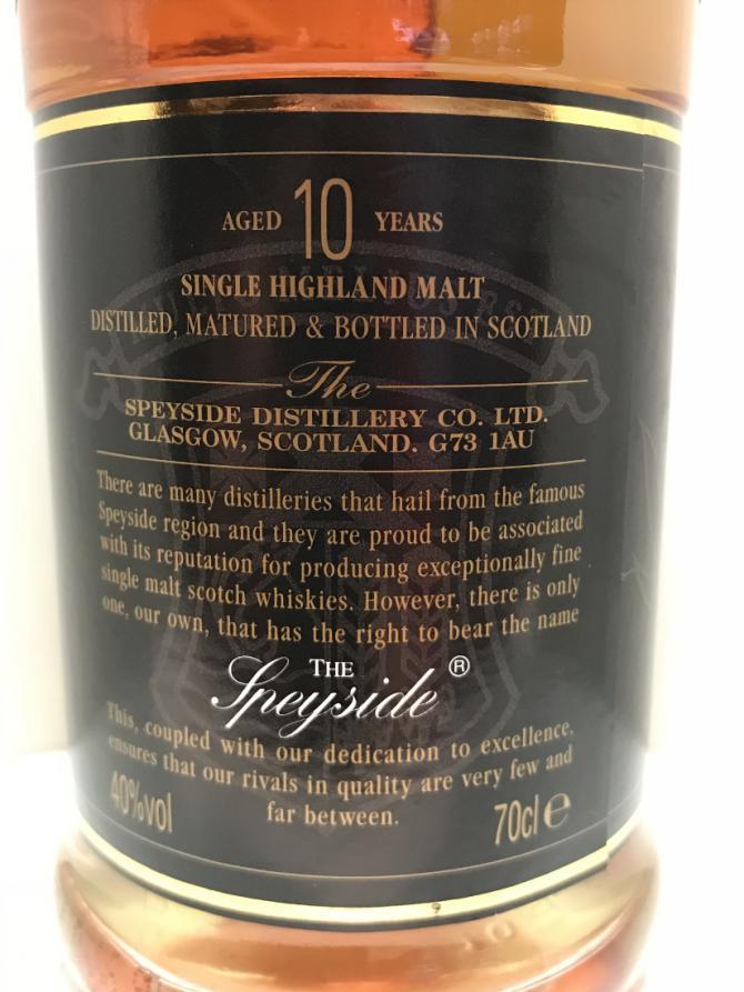 Speyside Distillery 10-year-old