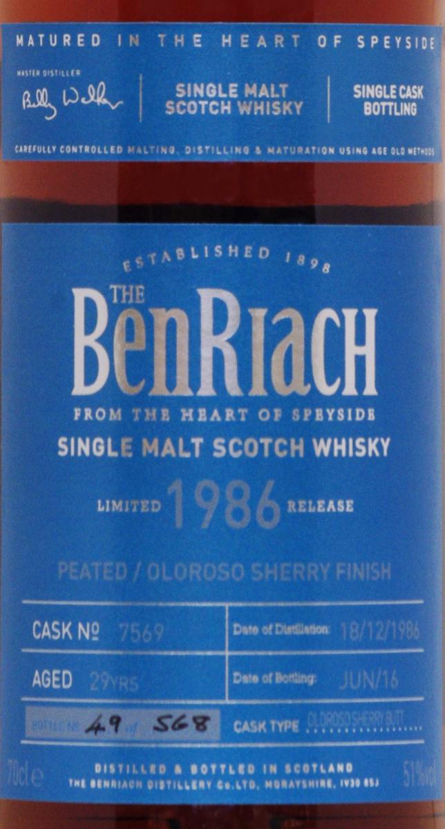 BenRiach 1986