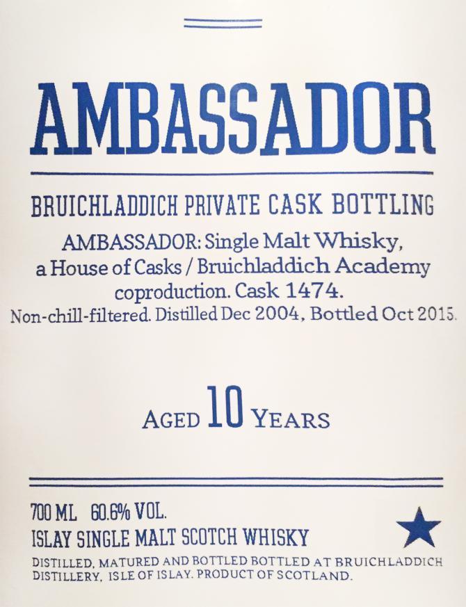 Bruichladdich 2004 - Ambassador