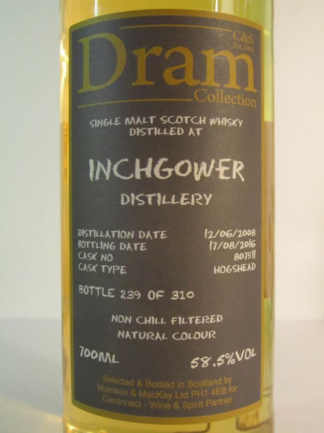 Inchgower 2008 C&S