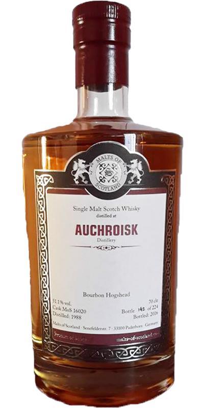 Auchroisk 1988 MoS