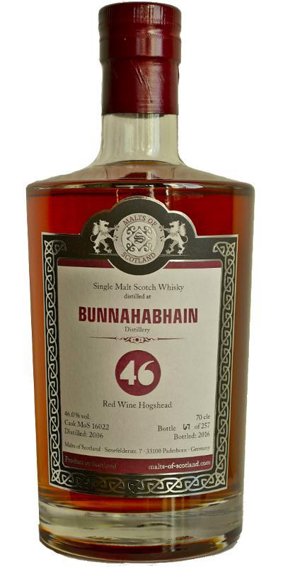 Bunnahabhain 2006 MoS