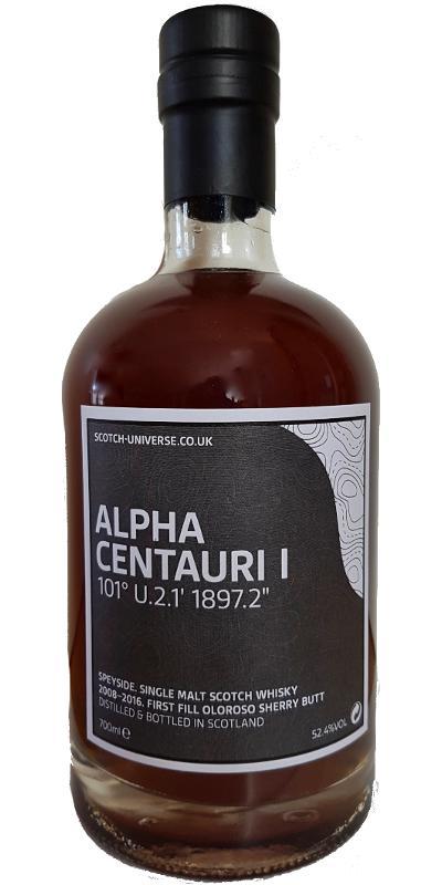 "Scotch Universe Alpha Centauri - 101° U.2.1' 1897.2"""