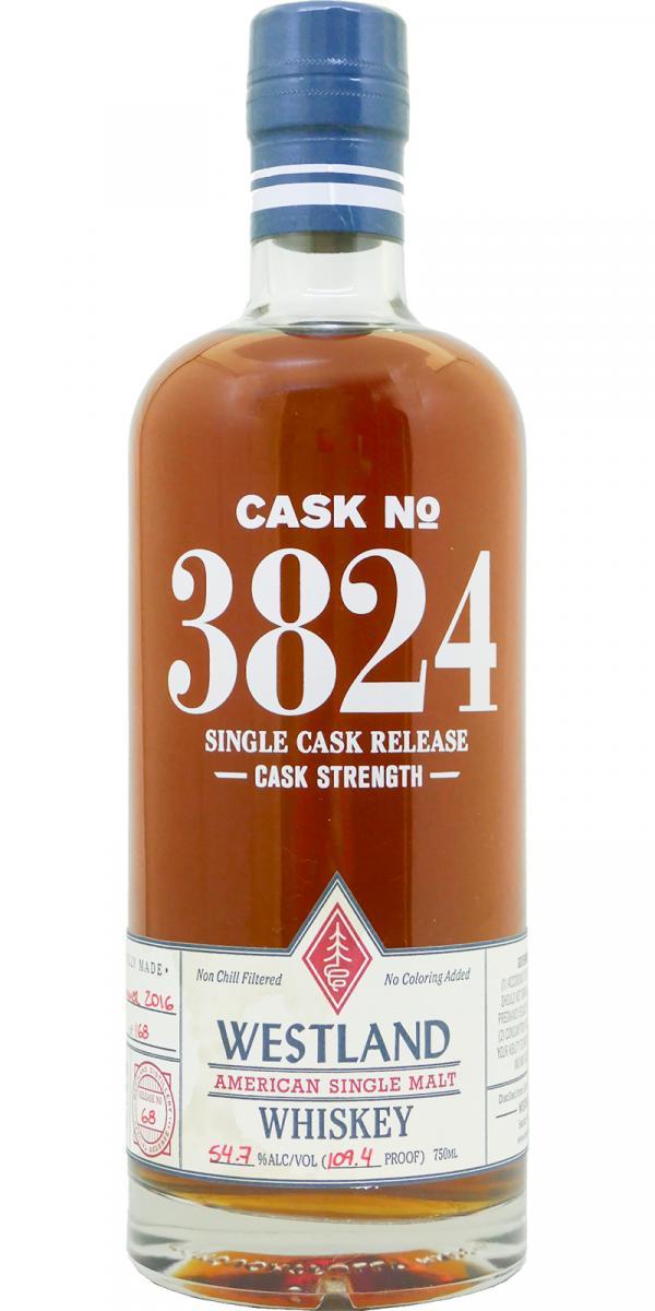 Westland Cask No. 3824