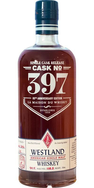 Westland Cask No. 397