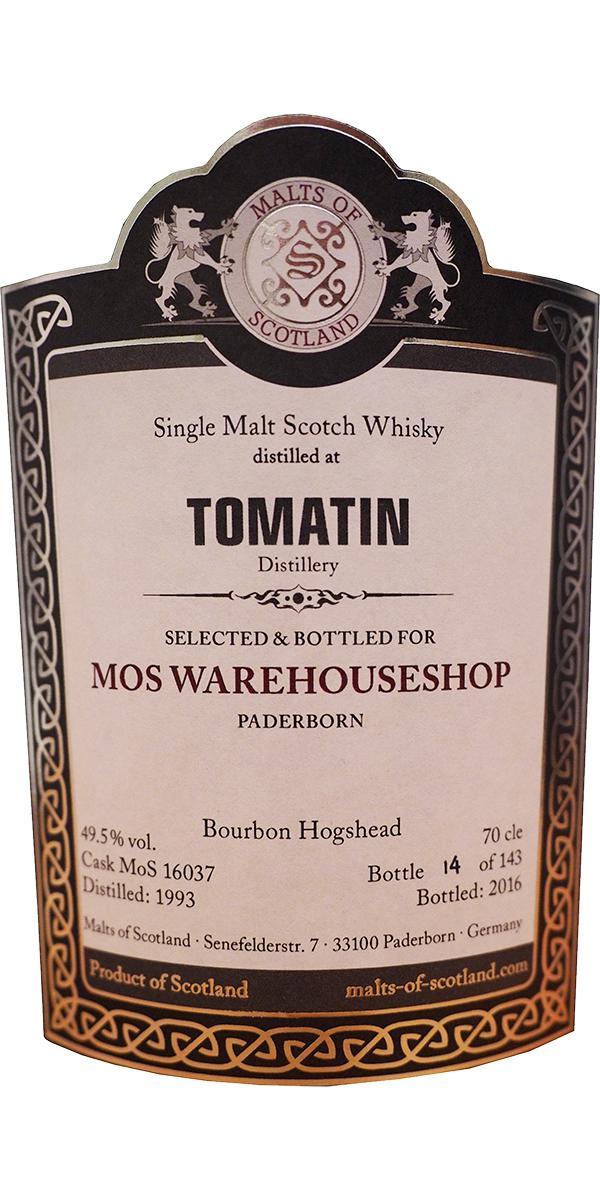 Tomatin 1993 MoS