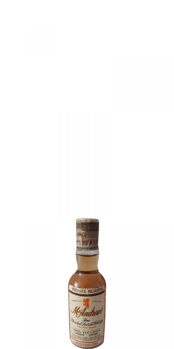 McAndrew's Fine Blended Scotch Whiskies