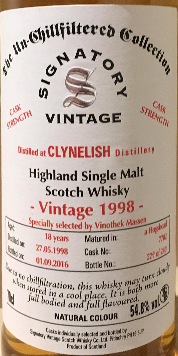 Clynelish 1998 SV