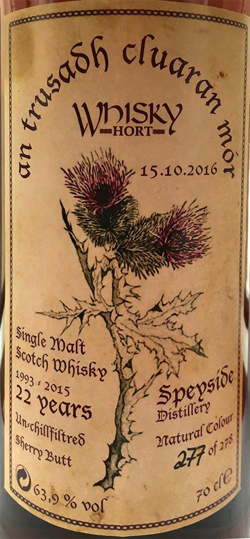 Speyside Distillery 1993 Wh