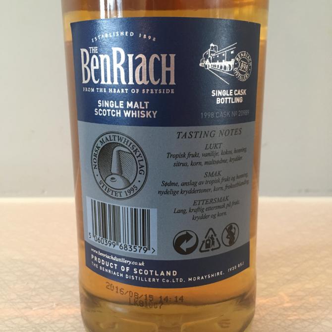 BenRiach 1998