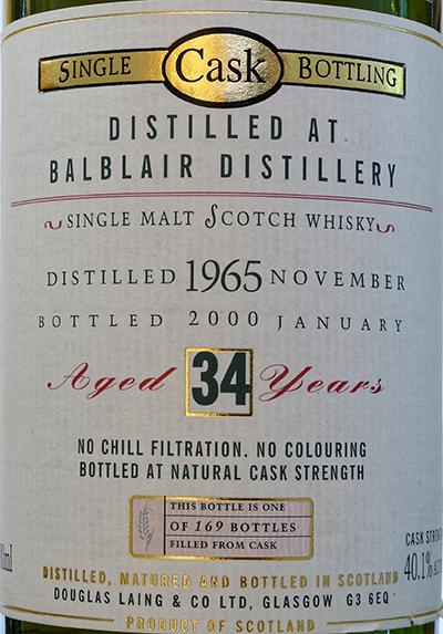Balblair 1965 DL