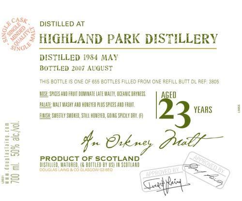 Highland Park 1984 DL