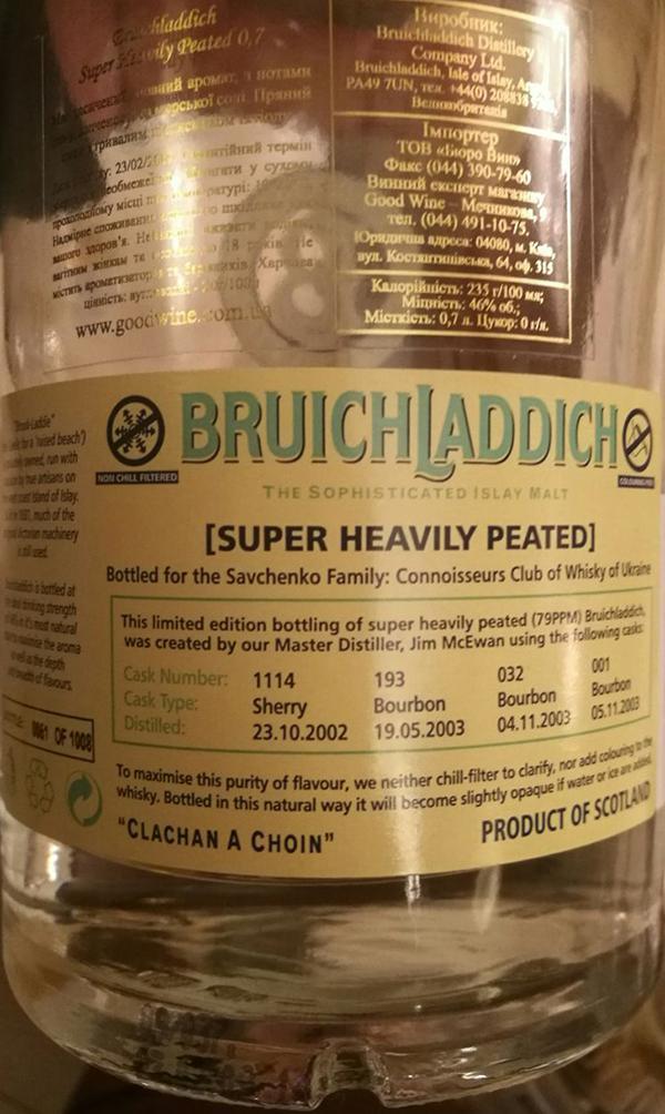 Bruichladdich Super Heavily Peated