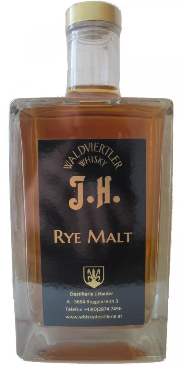 Waldviertler Whisky J.H. Rye Malt