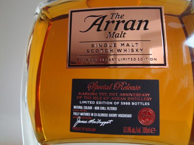 Arran 21st Anniversary Limited Edition