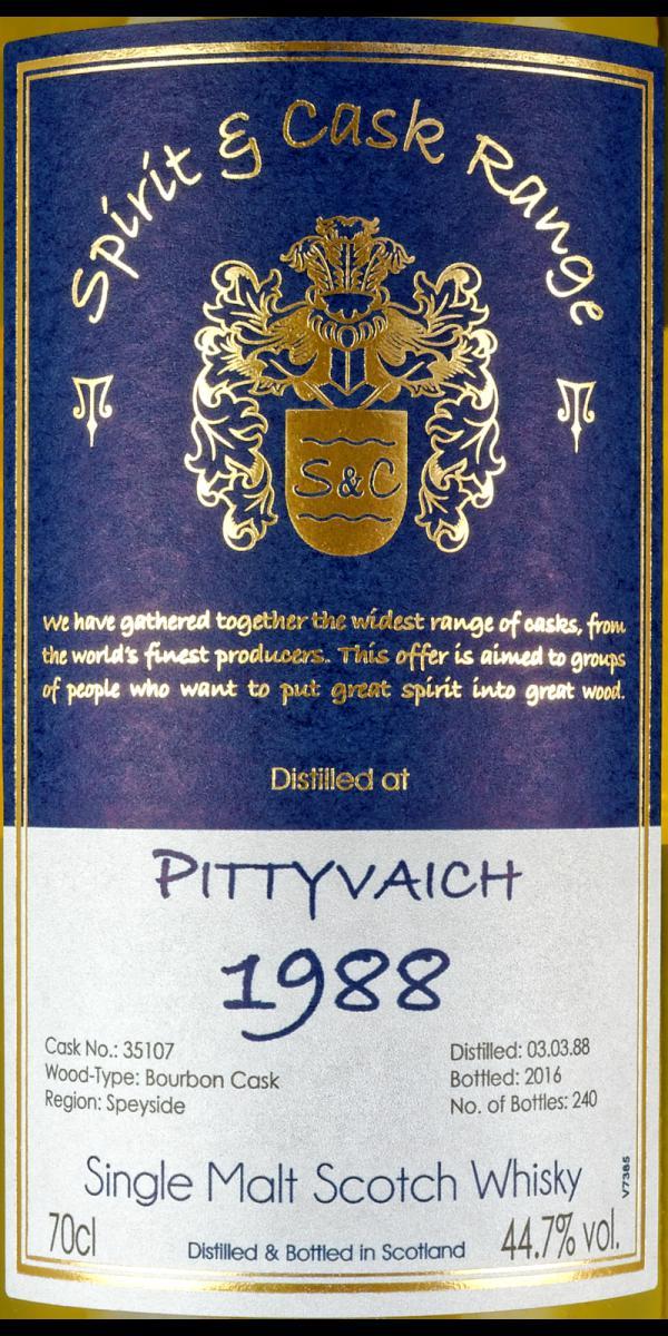 Pittyvaich 1988 Wx