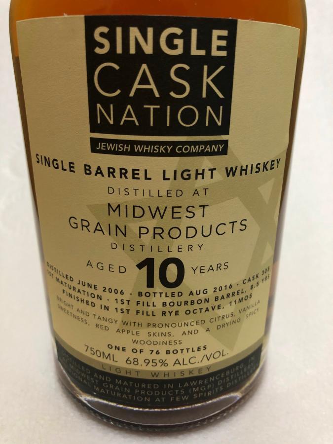 Single Barrel Light Whiskey 2006 JWC