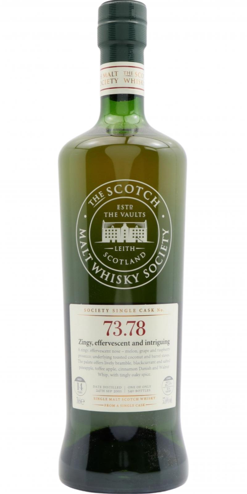 Aultmore 2001 SMWS 73.78