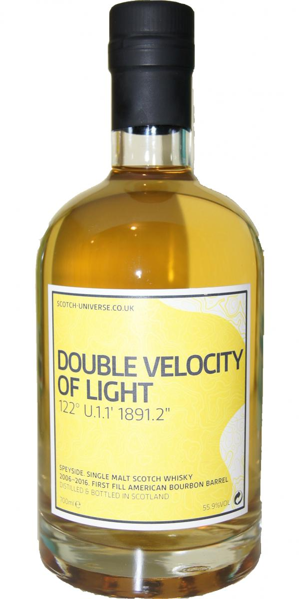 Scotch Universe Double Velocity of Light - 122 U.1.1' 1891.2""