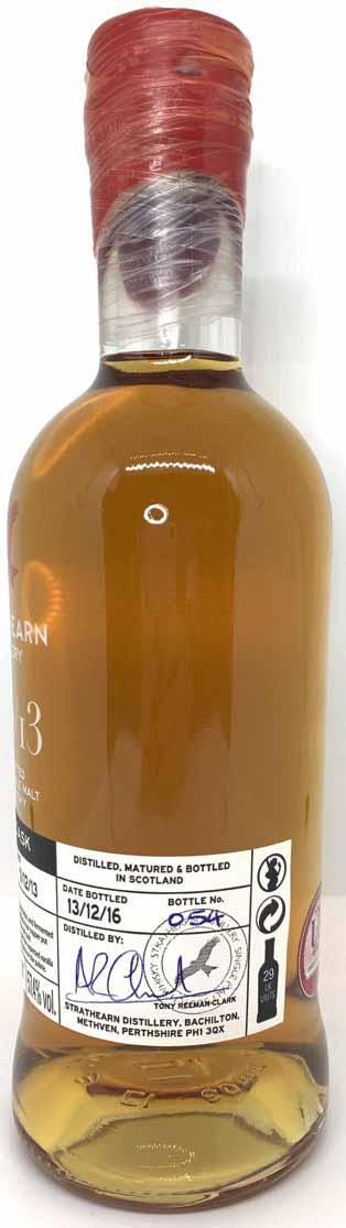 Strathearn Inaugural Single Cask Bottling