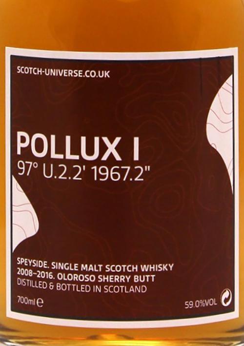 """Scotch Universe Pollux I - 97° U.2.2' 1967.2"""""""