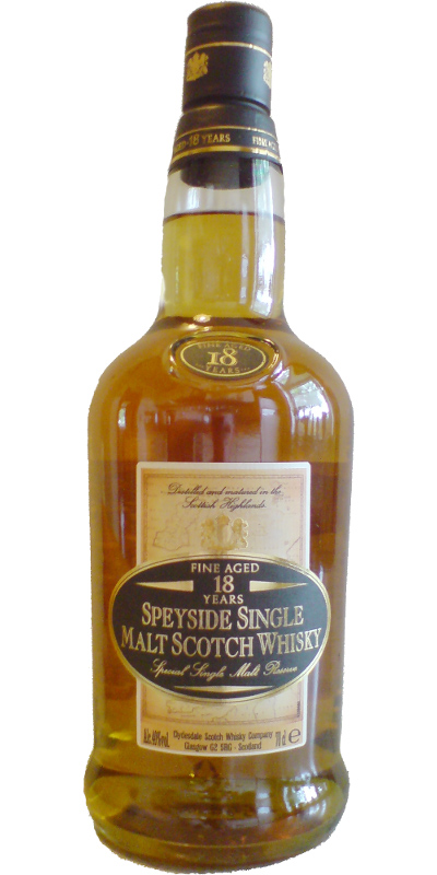 Speyside Single Malt Scotch Whisky 18-year-old Cd