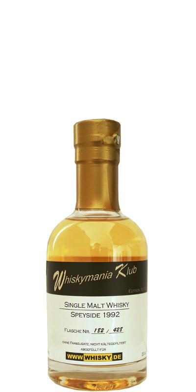 Whiskymania Klub 1992 - Speyside Wm.de