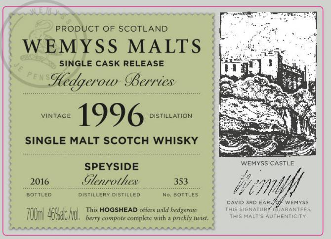 Glenrothes 1996 Wy