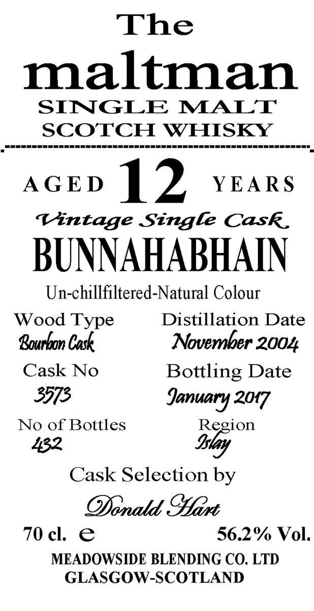 Bunnahabhain 2004 MBl