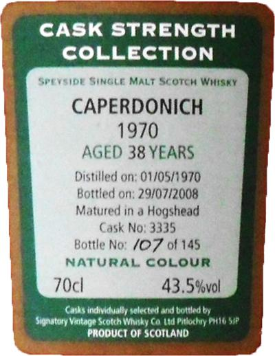 Caperdonich 1970 SV