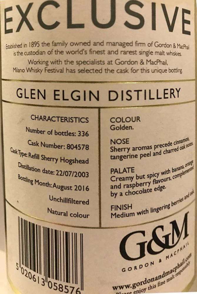 Glen Elgin 2003 GM