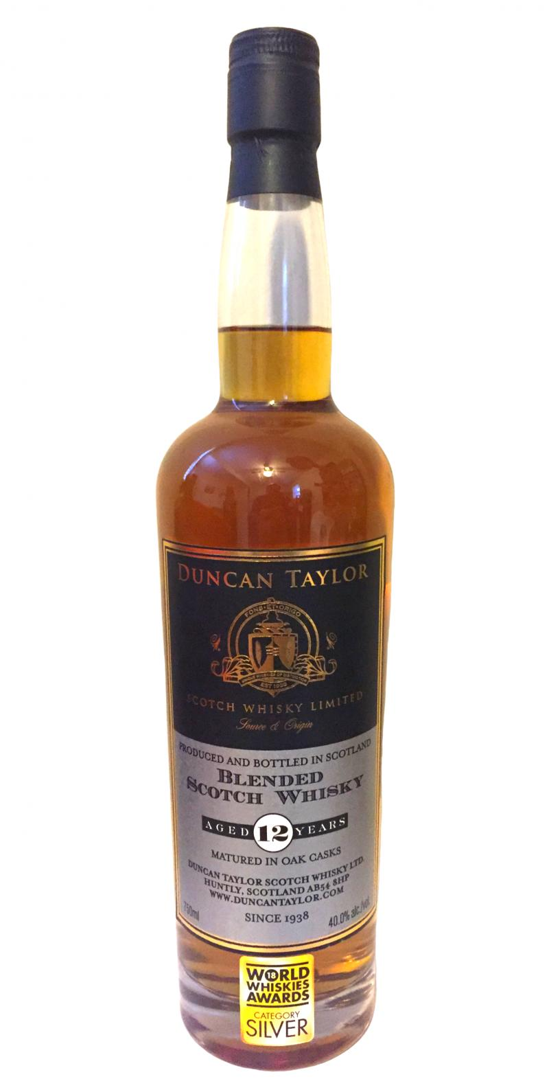 Blended Scotch Whisky 12-year-old DT