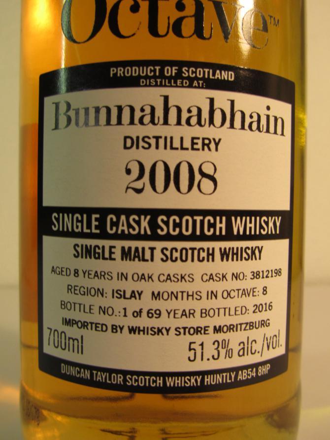 Bunnahabhain 2008 DT